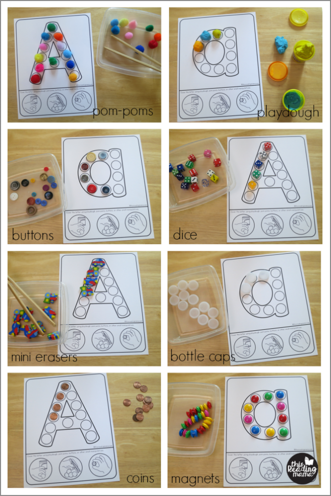 fine motor alphabet mats - hands-ideas