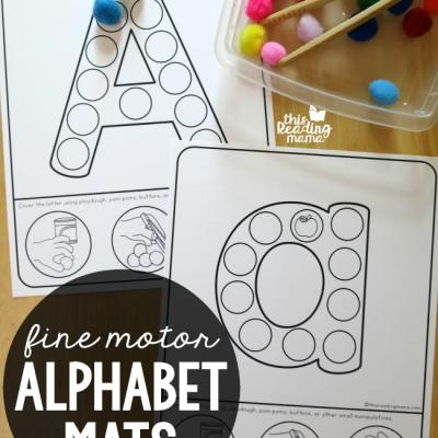 Fine Motor Alphabet Mats {uppercase & lowercase}