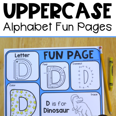 Uppercase Alphabet Fun Pages