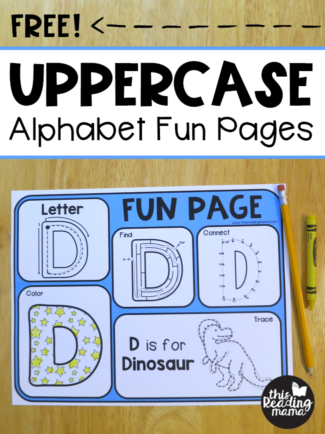 Free Uppercase Alphabet Fun Pages - This Reading Mama