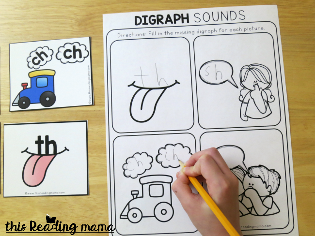filling in the blank digraph mnemonics pages with the correct h-digraph