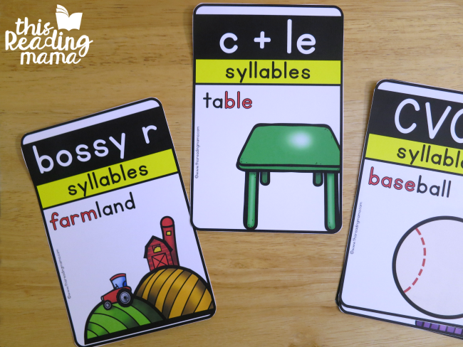 free 6 Syllable Types Posters from This Reading Mama