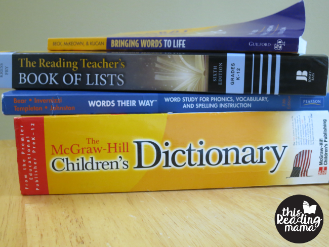 helpful books for teaching vocabulary