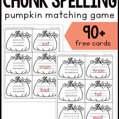 Chunk Spelling Pumpkin Game