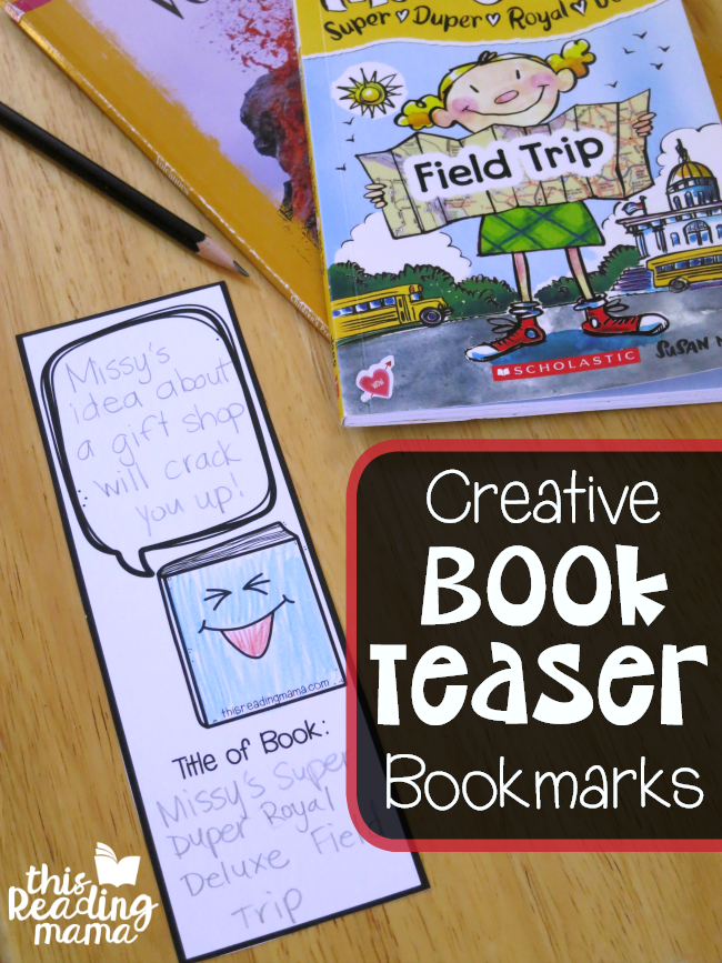 Creative Book Teaser Bookmarks - free - This Reading Mama
