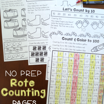No Prep Rote Counting Pages {2, 5, 10}