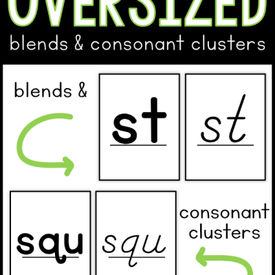 Oversized Blends Cards & Consonant Clusters Cards