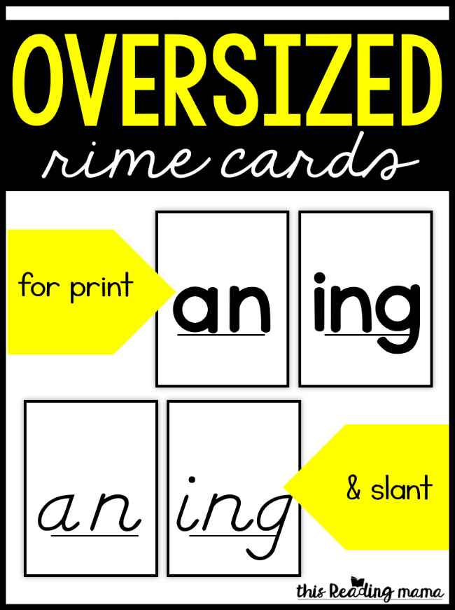 Oversized Rime Cards - This Reading Mama