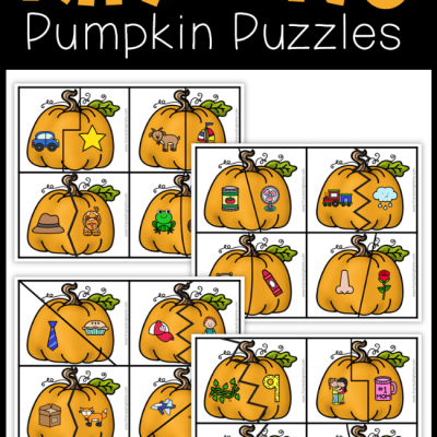 16 FREE Rhyming Pumpkin Puzzles