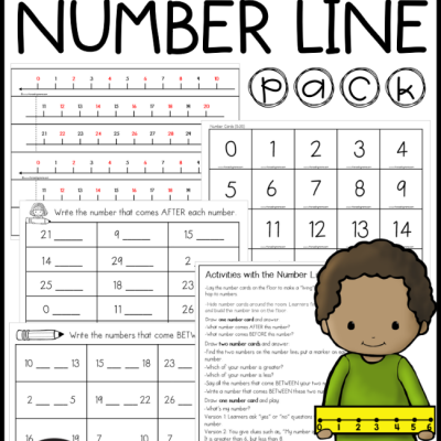 0-30 Number Line Activities Pack