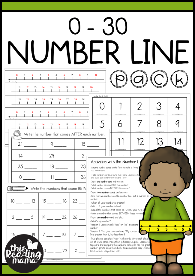 0-30 Number Line Activities Pack - This Reading Mama