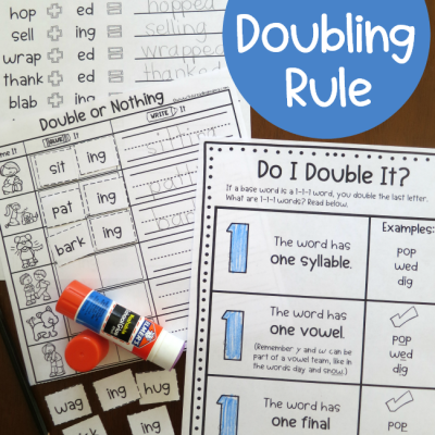 1-1-1 Doubling Rule Printables