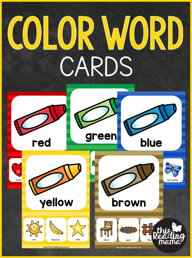 Free Color Word Cards - This Reading Mama
