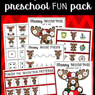 "Merry ""Moose""mas Christmas Preschool Pack"