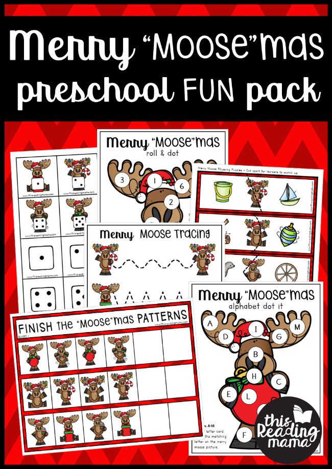 "Merry ""Moose""mas Christmas Preschool Pack - This Reading Mama"