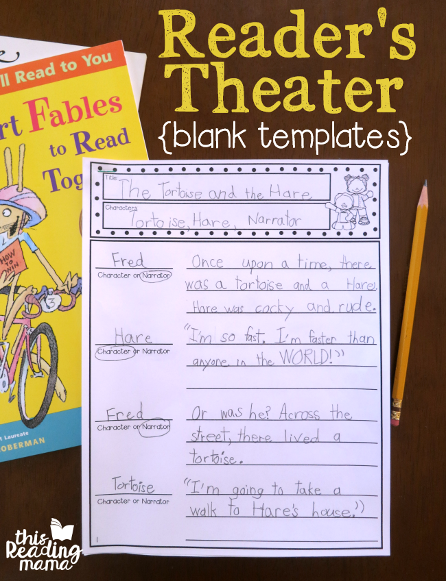 Reader's Theater Templates - write your own script with these blank templates - This Reading Mama