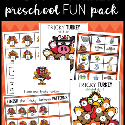 Tricky Turkey Preschool Pack