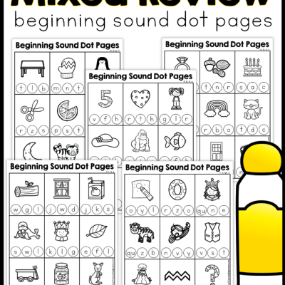 Beginning Sound Dot Pages – Mixed Review