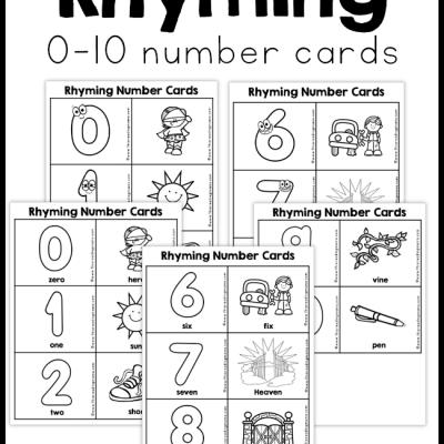 Rhyming Number Cards (0-10)