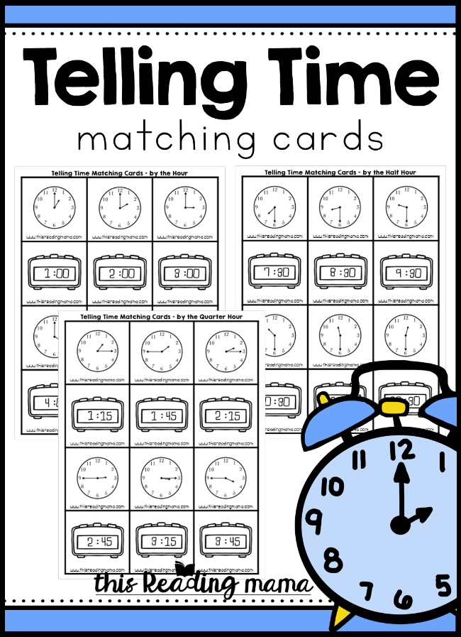 Telling Time Matching Cards - This Reading Mama