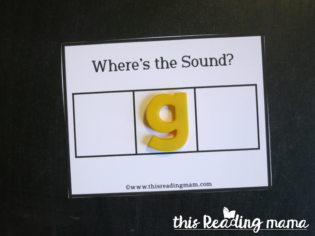 Where's the Sound - a simple activity to build the alphabetic principle