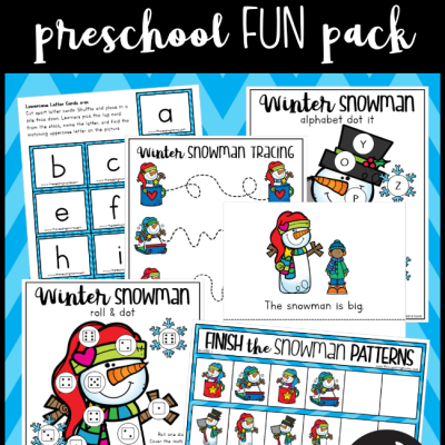 Winter Snowman Preschool Pack