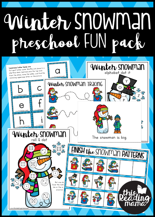 Winter Snowman Preschool Pack - This Reading Mama