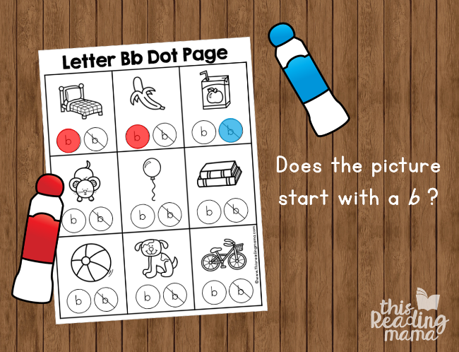 alphabet dot pages - does it start with a b example