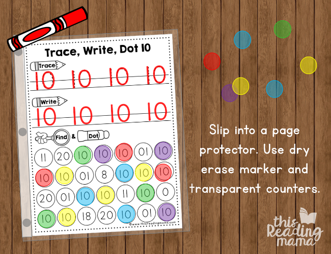 slip number handwriting pages into a page protector to make reusable