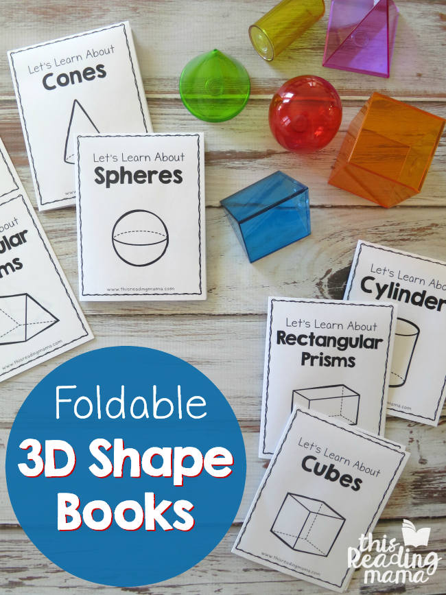 image regarding Shape Books Printable referred to as Foldable 3D Form Publications - Simple toward Fold! - This Examining Mama