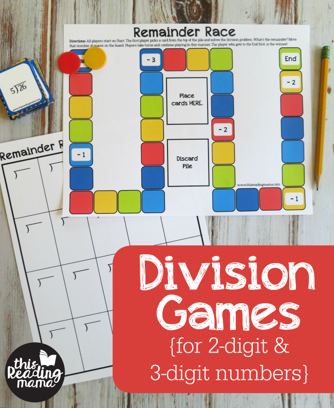 Free Division Games for 2-Digit and 3-Digit Numbers - This Reading Mama
