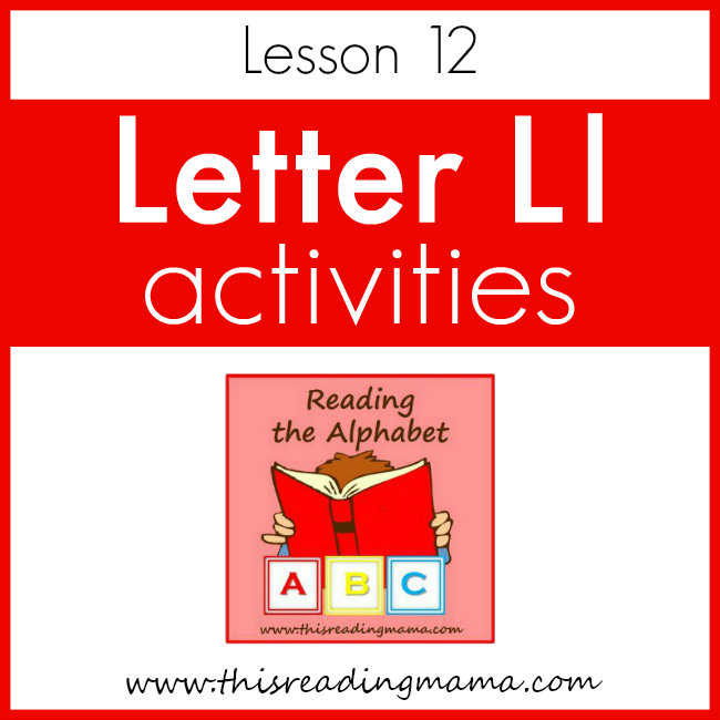 Reading the Alphabet Letter L - This Reading Mama