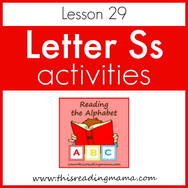 Reading the Alphabet Letter S - This Reading Mama