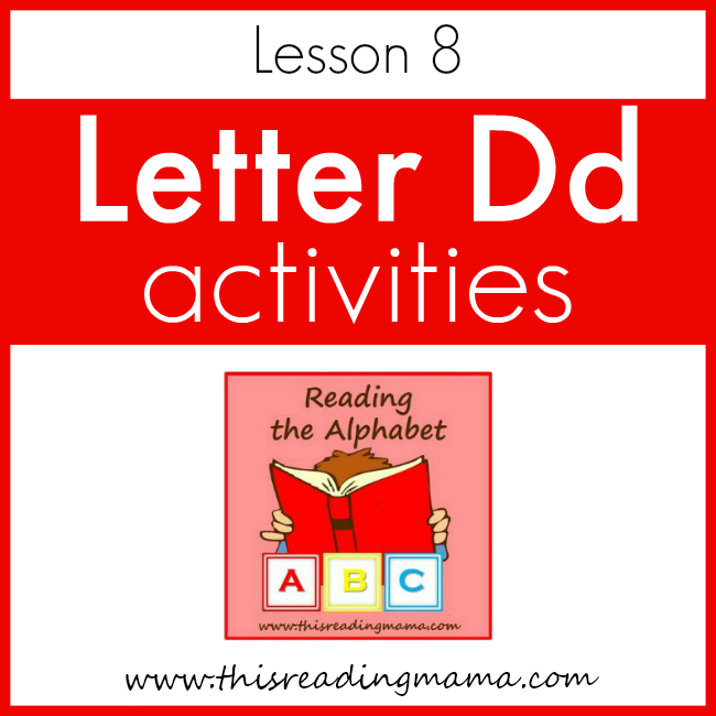 Reading the Alphabet Letter D - This Reading Mama