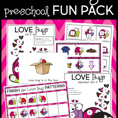 Love Bug Valentine Preschool Pack