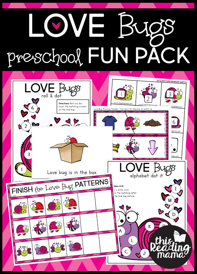 Love Bug Valentine Preschool Pack - This Reading Mama