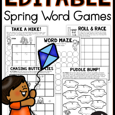 Editable Spring Word Games