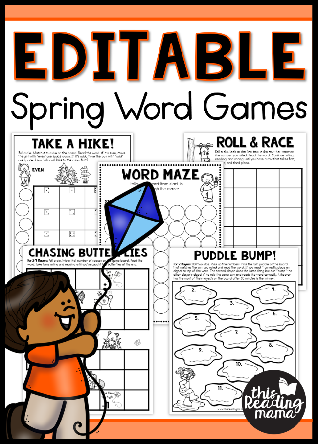 Editable Spring Word Game - This Reading Mama