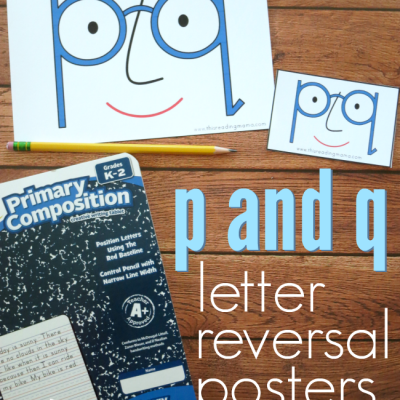Posters for p and q Letter Reversals