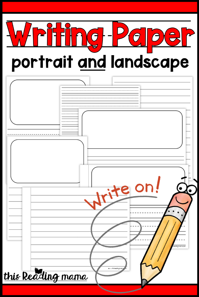picture regarding Printable Kindergarten Writing Paper identified as Printable Crafting Paper for Youngsters - This Looking through Mama
