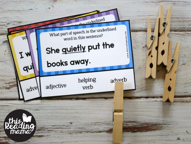 adverb clip card example