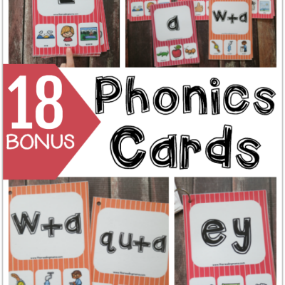 18 Bonus Phonics Cards