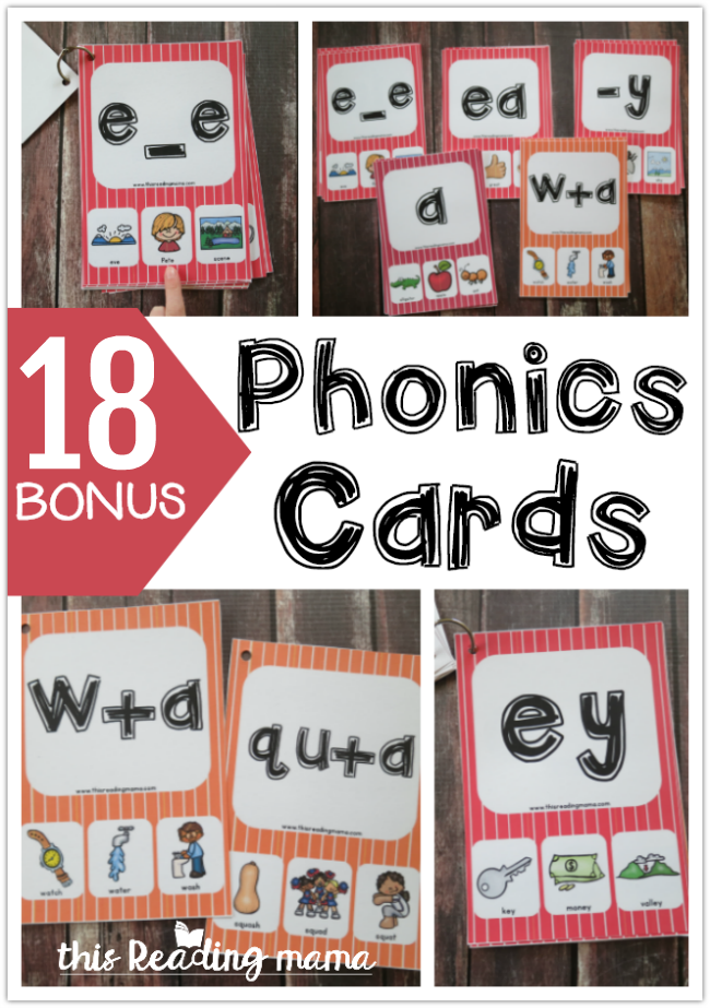 18 Bonus Phonics Cards - a subscriber freebie from This Reading Mama