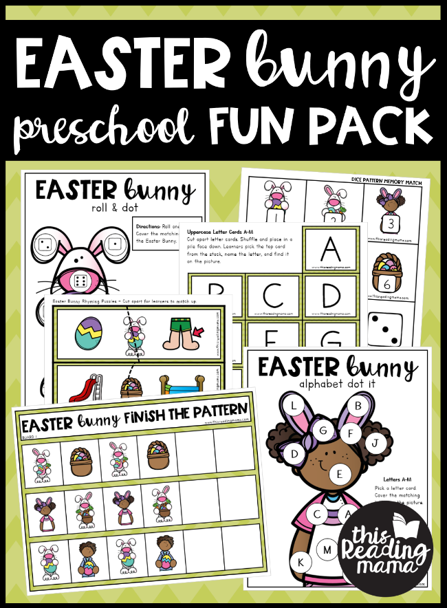 Easter Bunny Preschool Pack - This Reading Mama
