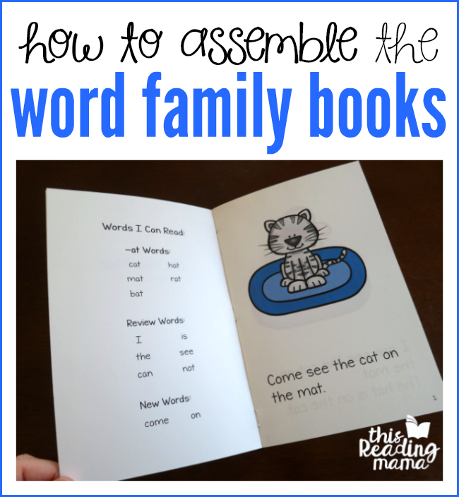 How to Assemble the Word Family Books - This Reading Mama
