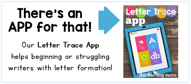 Letter Trace App - letter formation practice for beginning or struggling writers - This Reading Mama