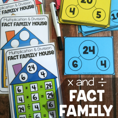 Multiplication & Division Fact Family Pack