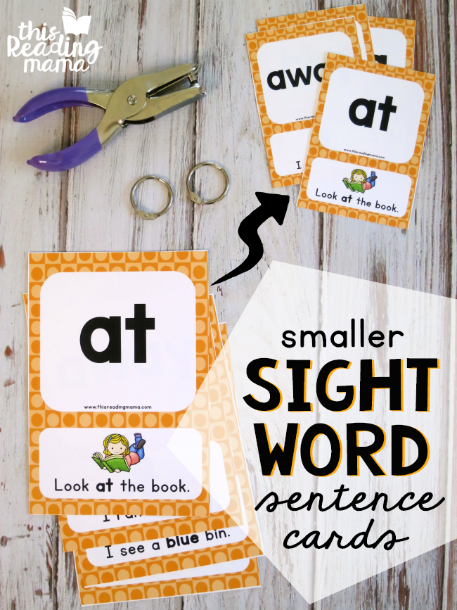 Print Smaller Sight Word Sentence Cards from your Printer Tutorial - This Reading Mama