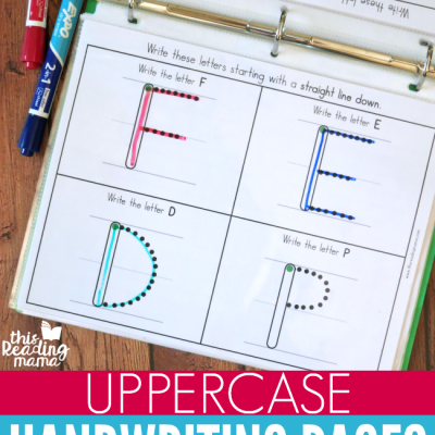 Uppercase Handwriting Pages {by group}