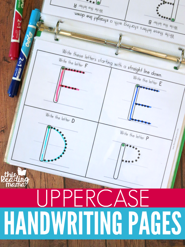 Uppercase Handwriting Pages by group - This Reading Mama